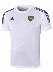 2020-2021 Boca Juniors White Short-sleeve Thailand Soccer Tracksuit Top -815
