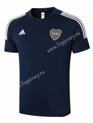 2020-2021 Boca Juniors Royal Blue Short-sleeve Thailand Soccer Tracksuit Top-815