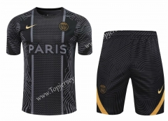 2020-2021 Barcelona Black Thailand Training Soccer Uniform AAA-418