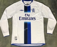 Retro Version 2003-2005 Chelsea Away White LS Thailand Soccer Jersey AAA-510