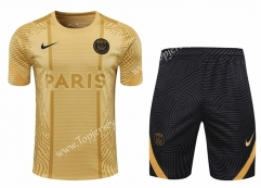 2020-2021 Jordan Paris SG Gold Thailand Training Soccer Uniform-418