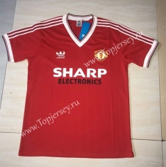 Retro Version 1985 Manchester United Home Red Thailand Soccer Jersey AAA