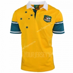 Retro Version 1999 Australia Yellow Thailand Rugby Shirt