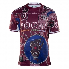 2020-2021 Commemorative Edition Sea hawk Dark Red Thailand Rugby Jersey