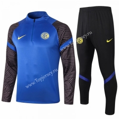 2020-2021 Inter Milan Camouflage Blue Thailand Soccer Tracksuit-815