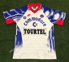 Retro Version 1993-1994 Paris SG Away White Thailand Soccer Jersey AAA-503