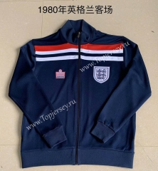 1980 England Royal Blue Thailand Soccer Jacket-AY