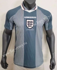 Retro Version 96 England Away Gray Thailand Soccer Jersey AAA-416