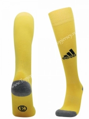 Yellow Soccer Normal Socks