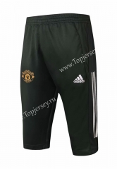 2020-2021 Manchester United Black Short-sleeve Thailand Soccer Tracksuit Pants-815
