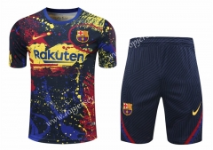 2020-2021 Barcelona Red&Yellow&Blue Short-sleeved Thailand Training Soccer Uniform-418