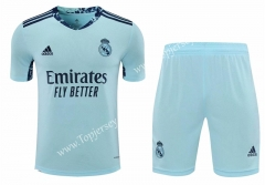 2020-2021 Real Madrid Goalkeeper Blue Thailand Soccer Uniform-418