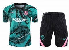 2020-2021 Barcelona Green Thailand Training Soccer Uniform-418