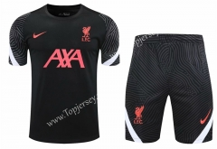 2020-2021 Liverpool Black Thailand Training Soccer Uniform-418