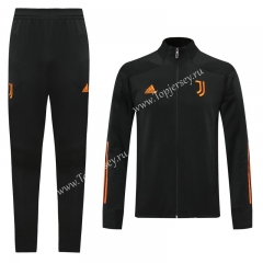 2020-2021 Juventus Black Thailand Training Soccer Jacket Uniform-LH