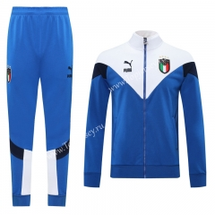 Classic Edition 2020-2021 Italy Camouflage Blue Thailand Soccer Jacket Uniform-LH
