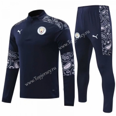 2020-2021 Manchester City Royal Blue Thailand Soccer Tracksuit -418