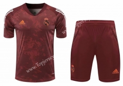 2020-2021 Real Madrid Dark Red Thailand Soccer Training Uniform-418