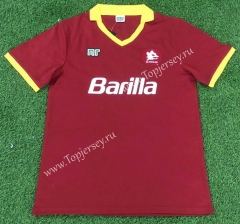 Retro Version 89-99 Roma Home Red Thailand Soccer Jersey AAA-503