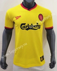 Retro Version 97-99 Liverpool Away Yellow Thailand Soccer Jersey AAA-416