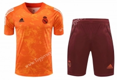 2020-2021 Real Madrid Orange Thailand Soccer Training Uniform-418