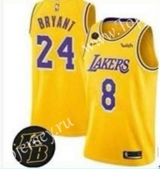 Los Angeles Lakers Yellow #8/24 NBA Jersey