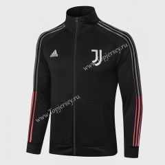 2020-2021 Juventus Black High Collar Thailand Soccer Jacket-815