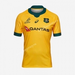 2020-2021 Australia Away Yellow Thailand Rugby Shirt