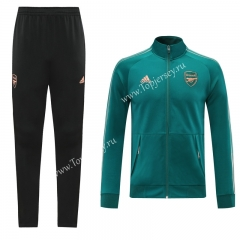 2020-2021 Arsenal Lake Blue Thailand Soccer Jacket Uniform-LH