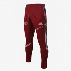 2020-2021 Manchester United Jujube Red Thailand Soccer Jacket Long Pants-815