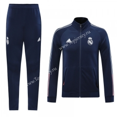 2020-2021 Real Madrid Royal Blue Thailand Soccer Jacket Uniform-LH