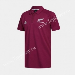 2020 All Blacks Dark Red Thailand Rugby Shirt
