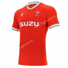 2020-2021 Wales Home Red Thailand Rugby Shirt