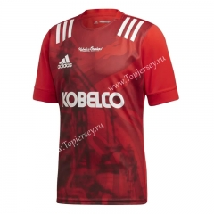 2020-2021 Kobe Steel Home Red Thailand Rugby Jersey