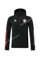 2020-2021 Bayern München Black Trench Coats With Hat-LH