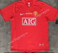 Retro Version 07-08 Champions League Manchester United Home Red Thailand Soccer Jersey AAA-510