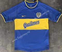 Retro Version 1999-2000 Boca Juniors Home Blue Thailand Soccer Jersey AAA-510