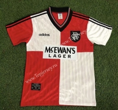 Retro Version 95-96 Rangers Away Red&White Thailand Soccer Jersey AAA-503