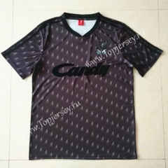 Retro Version 1989 Liverpool 2nd Away Black&Gray Thailand Soccer Jersey AAA-422