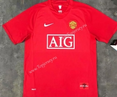 Retro Version 07-08 Manchester United Home Red Thailand Soccer Jersey AAA-510