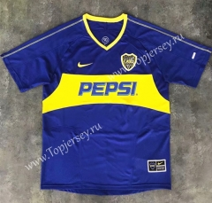 Retro Version 03-04 Boca Juniors Home Blue Thailand Soccer Jersey AAA-SL