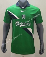 Retro Version 90-00 Liverpool Away Green Thailand Soccer Jersey AAA-416