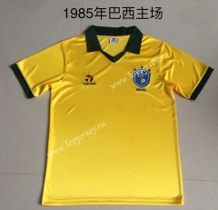 Retro Version 1985 Brazil Home Yellow Thailand Soccer Jersey AAA-709