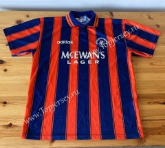 Retro Version 93-94 Rangers Away Red&Blue Thailand Soccer Jersey AAA-503