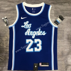Latin Edition Los Angeles Lakers Blue #23 NBA Retro Jersey