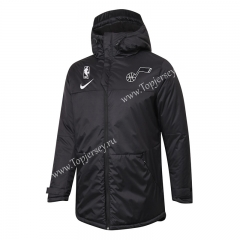 NBA Utah Jazz Black Cotton Coat With Hat-815