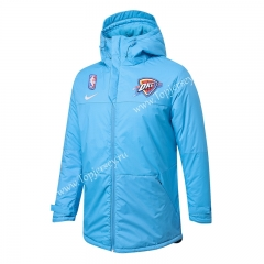 NBA New York Knicks Light Blue Cotton Coat With Hat-815
