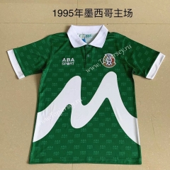 Retro Version 1995 Mexico Home Green Thailand Soccer Jersey AAA-AY