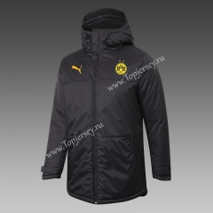 2020-2021 Borussia Dortmund Black Cotton Coat With Hat-815