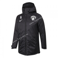 NBA New York Knicks Black Cotton Coat With Hat-815